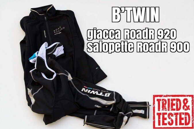 B'TWIN_giacca RoadR 920_salopette RoadR 900